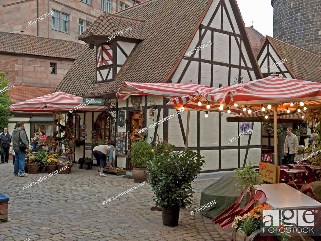 Handwerkerhof Crafts Yard Tourist In Front Of Souvenir Shop Shops