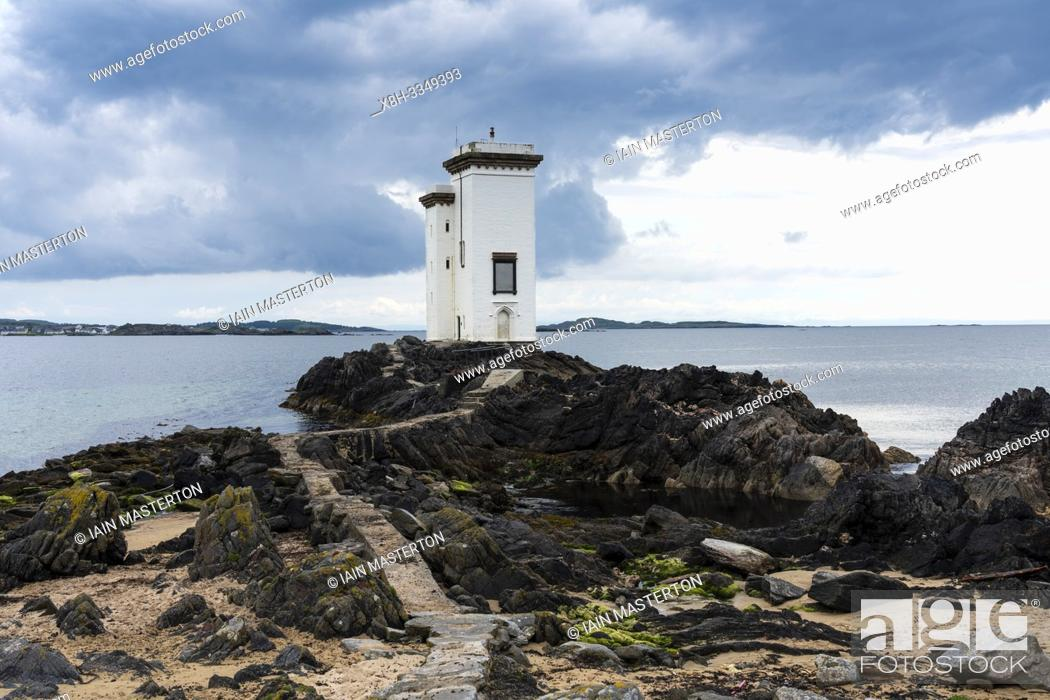 Stock Photo: Port Ellen Lighthouse at Carraig Fhada on Islay in Inner Hebrides, Scotland , UK.