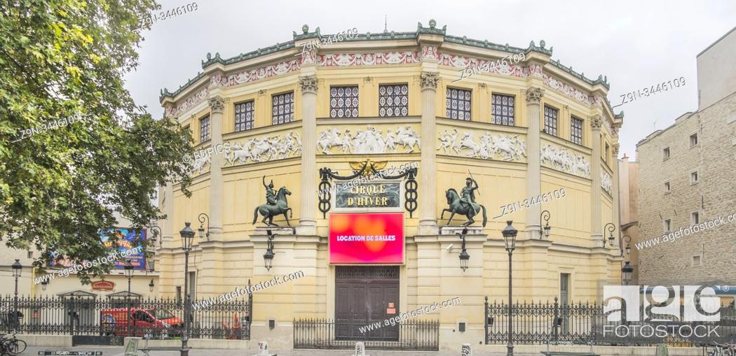 Stock Photo: cirque d'hiver, outside view, paris, ile de france, france.