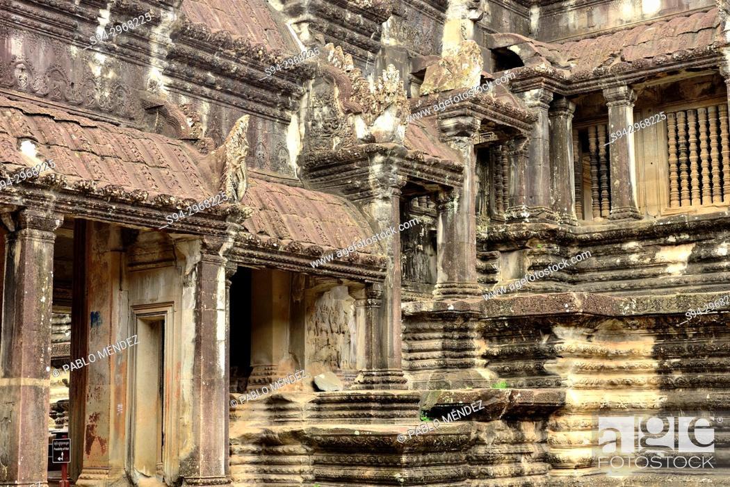 Stock Photo: Detail of Angkor Wat, Siem Reap, Cambodia.