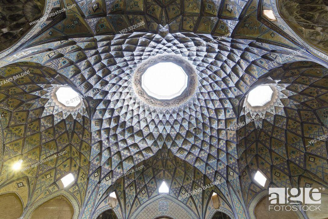 Imagen: Khan Amin al-Dowleh Timche dome, grand bazaar, Kashan, Iran.
