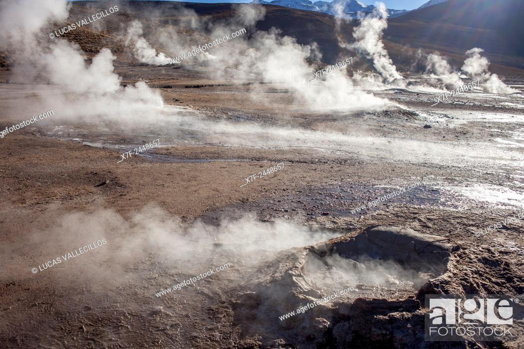 Stock Photo: El Tatio geysers, Atacama desert. Region de Antofagasta. Chile.