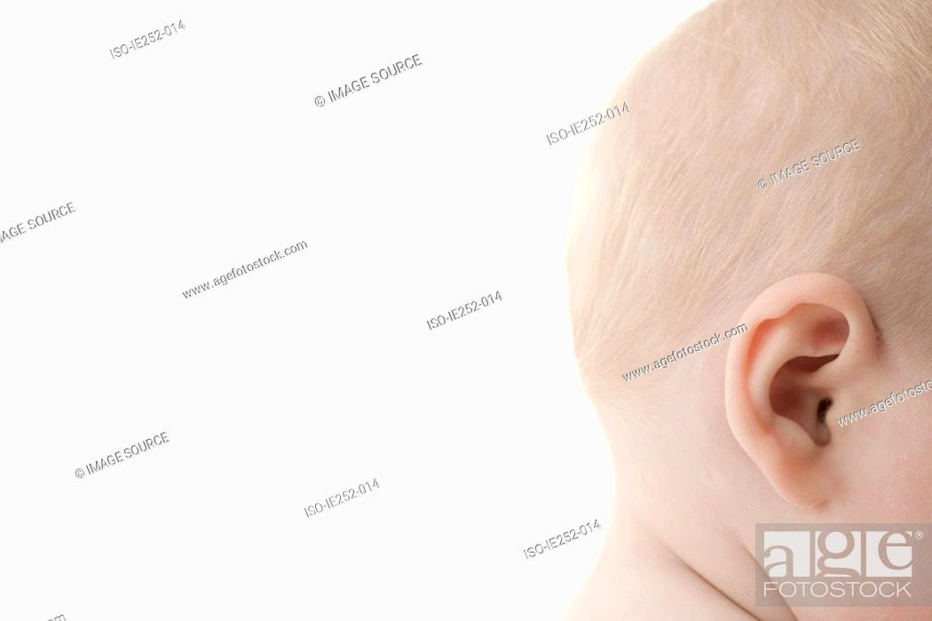 Stock Photo: Babys head.