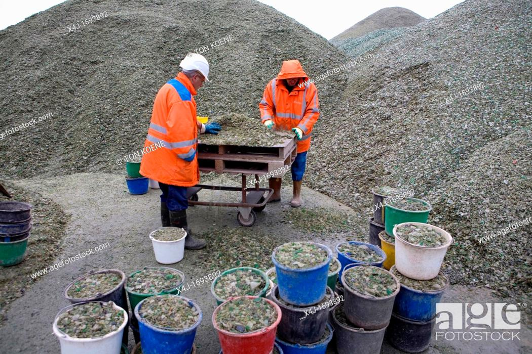 Stock Photo: Recycling of toxic waste All municipalities in The Netherlands are required to provide known collection points for recyclable and/or hazardous materials All.
