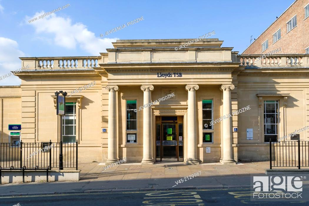 Stock Photo: Lloyds TSB Bank branch, Rowcroft, Stroud, Gloucestershire, England, UK.