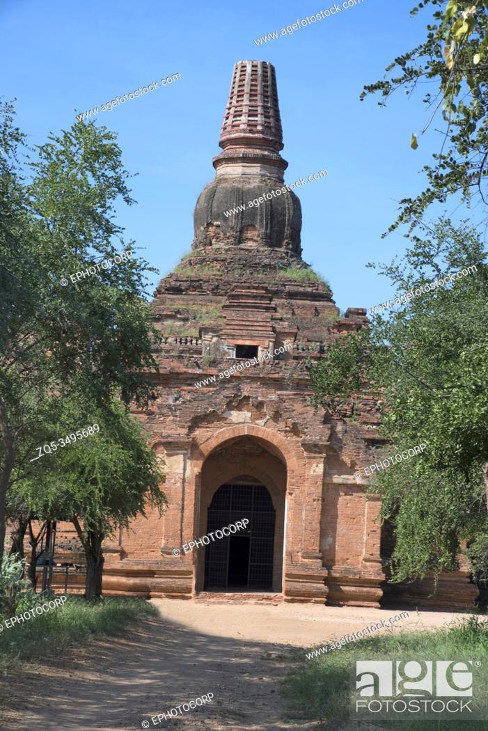 Imagen: Myanmar: Bagan- Horizontal General-View of Patho-hta-mya- Hpaya circa. Early 11th. century A. D.