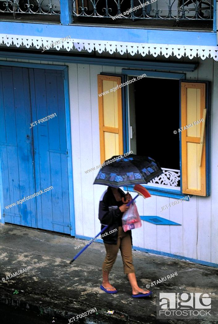 Stock Photo: Reunion, Salazie, traditional dwelling.