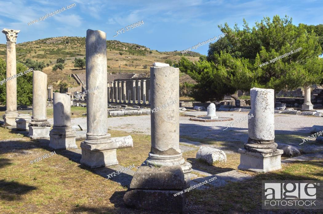 Stock Photo: Asklepieion (also spelled Asclepieion, Asclepion, Asklepion, Asclepeion), near Bergama, Izmir Province, Turkey. Ancient medical centre.