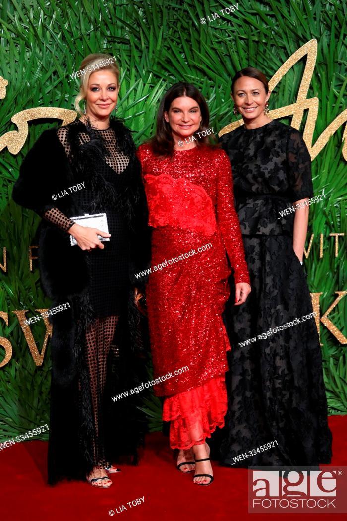 d8265eb77 Stock Photo - The British Fashion Awards held at the Royal Albert Hall -  Arrivals Featuring: Nadja Swarovski, Natalie Massenet, Caroline Rush Where:  London, ...