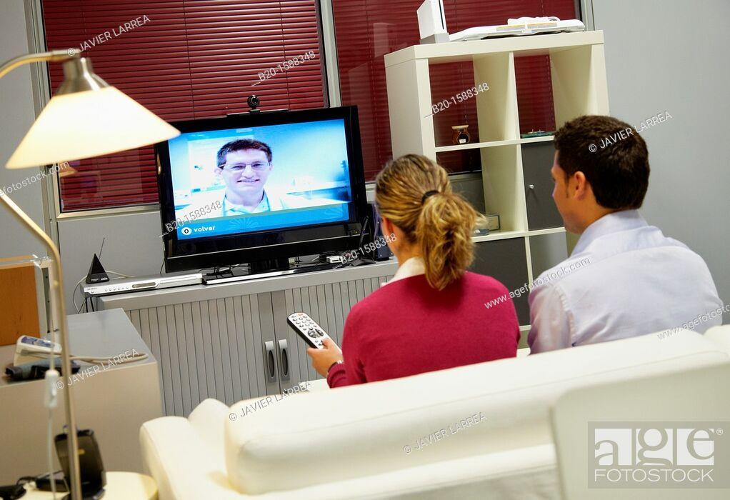 Stock Photo: Video conferencing service  Users have the tools necessary to establish communication with the call center workstation and / or other users.