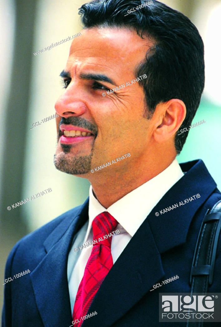 Stock Photo: Portrait of Arab businessman.