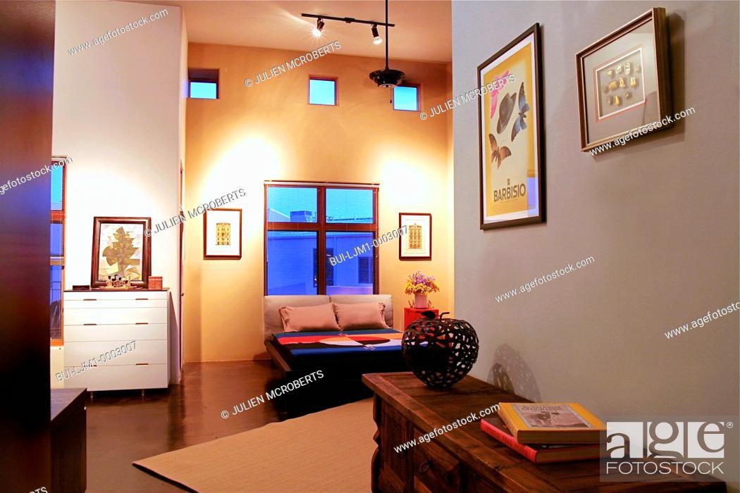 Stock Photo: Interior contemporary loft apartment.