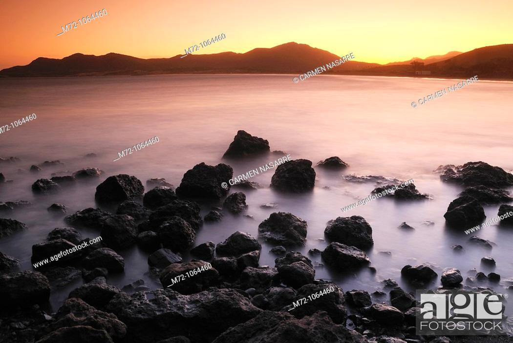 Stock Photo: Genoveses Cove, Natural Park of Cabo de Gata, Almería, Andalucía, Spain.