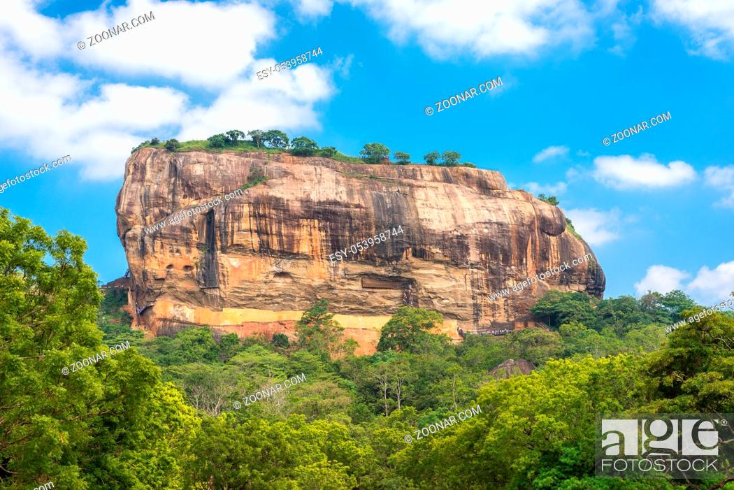 Stock Photo: Sigiriya is an ancient rock fortress and one of the most legendary icons of Sri Lankan history.