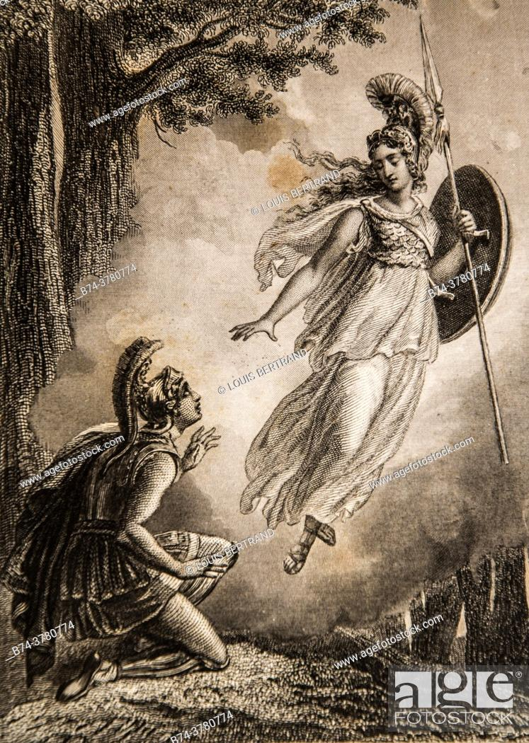 Photo de stock: O goddess, it is therefore you yourself who have deigned to lead the son of Ulysses for the love of his father, telemarque adventure by fenelon.