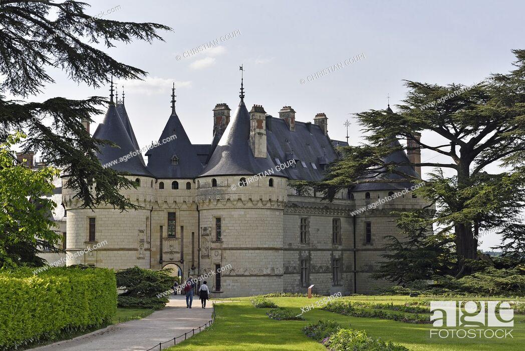 Stock Photo: Chateau, Domaine de Chaumont-sur-Loire, departement Loir-et-Cher, region Centre-Val de Loire, France, Europe/Castle, Domain of Chaumont-sur-Loire.