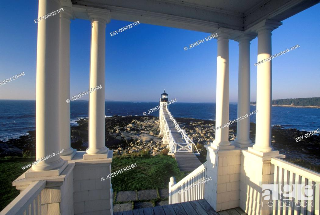 Stock Photo: Marshall Point Lighthouse on Port Clyde, ME.