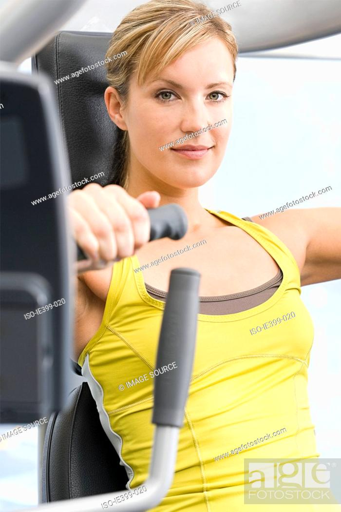 Stock Photo: Woman at the gym.