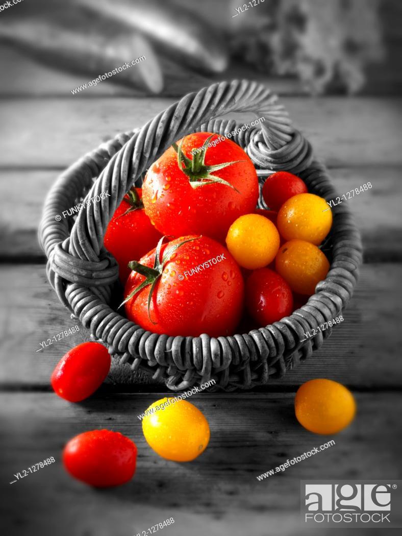 Stock Photo: Mixed tomatoes.