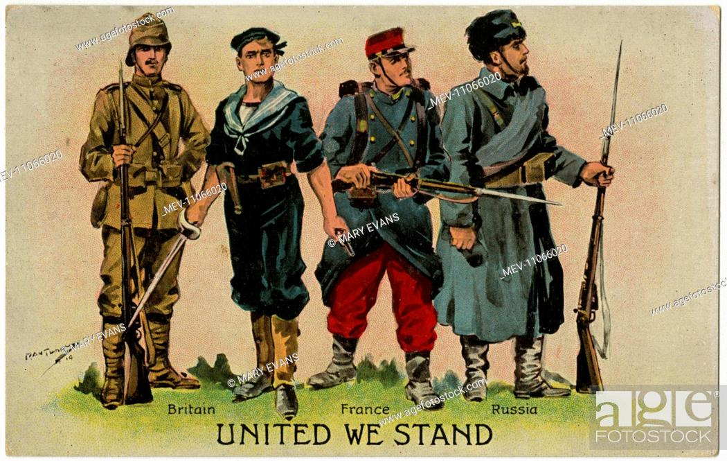 WW1 - The Allies - United We Stand  Soldiers of Russia, France and