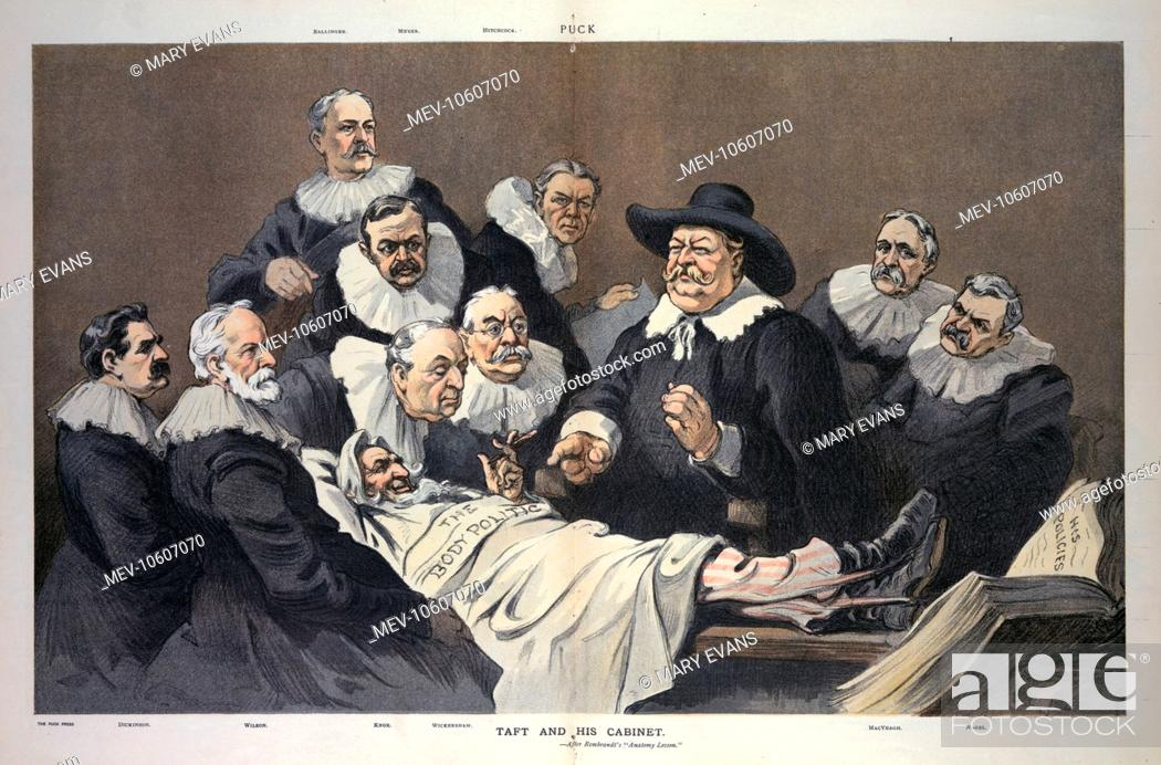 Taft And His Cabinet After Rembrandts Anatomy Lesson Stock Photo