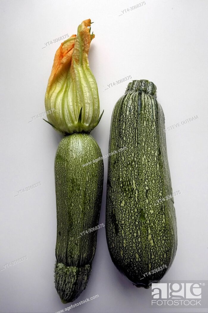 Stock Photo: Two Courgettes.