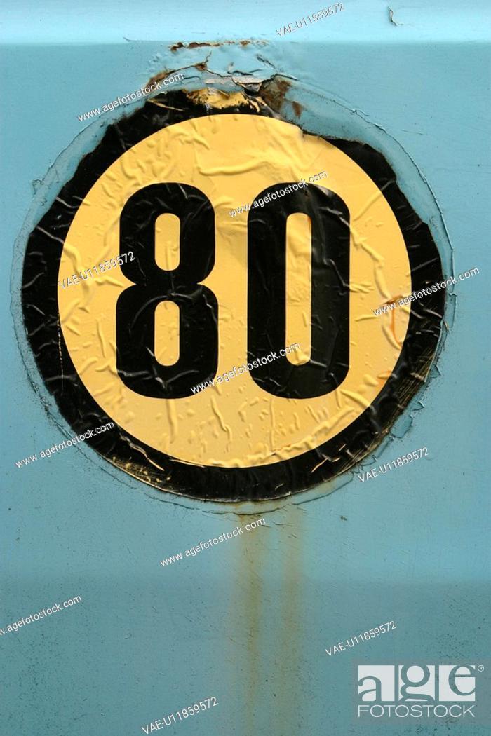 Stock Photo: sign, circular, indication, signage, displayed, close-up.