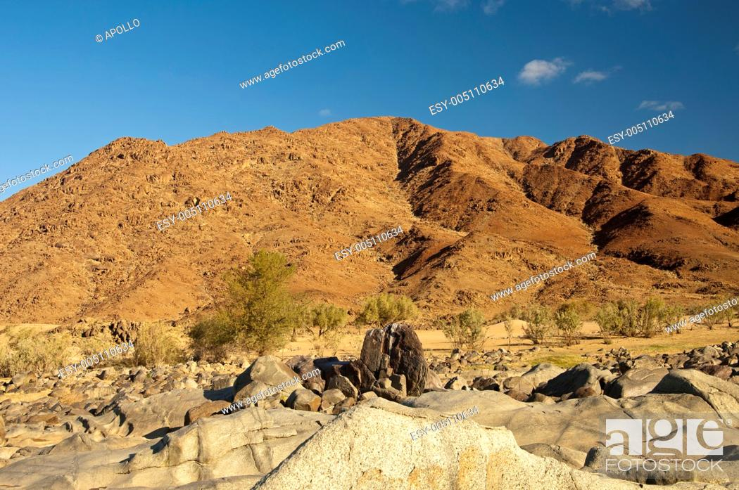 Stock Photo: Mountain desert area in the Richtersveld Transfrontier National Park, Namaqualand, Northern Cape Province, South Africa.