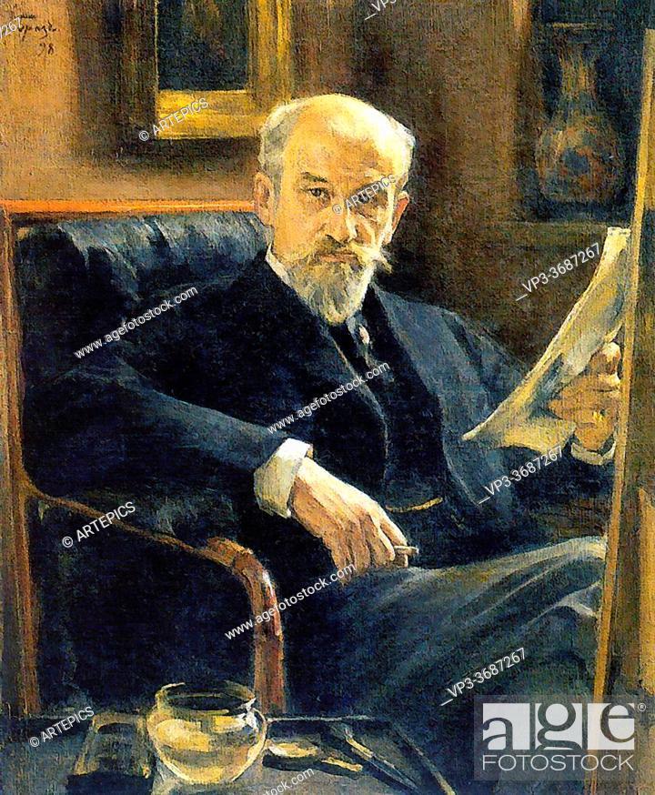 Stock Photo: Somov Constantin - Portrait of a. I. Somov the Artist's Father 2 - Russian School - 19th Century.