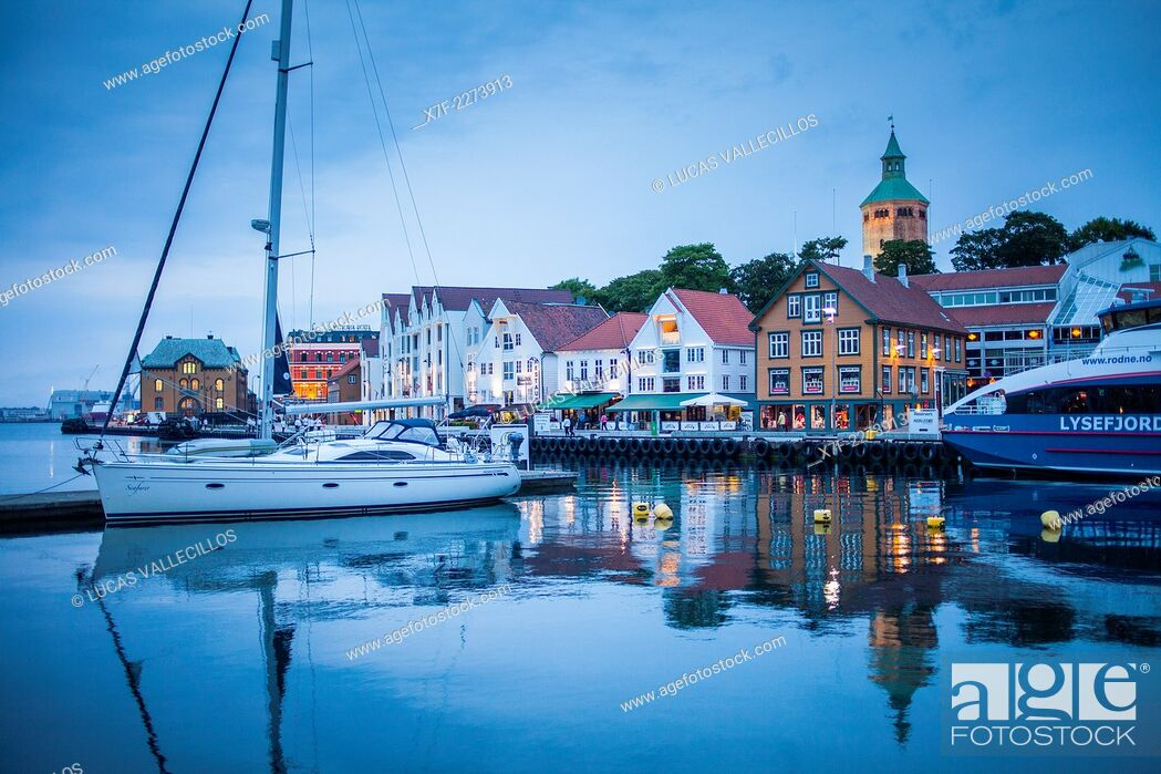 Stock Photo: Vagen harbour, Stavanger, Norway.