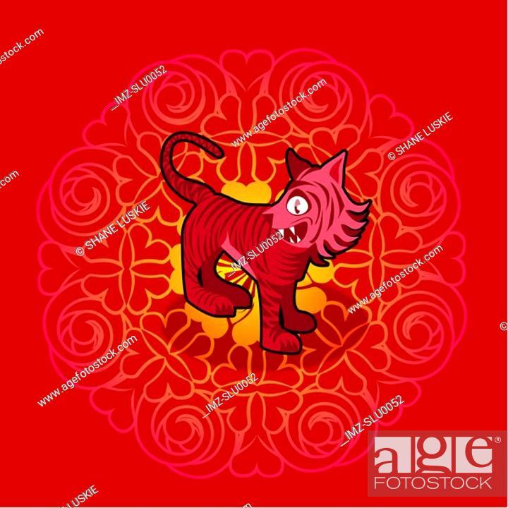 Stock Photo: Chinese new year symbol of snake.