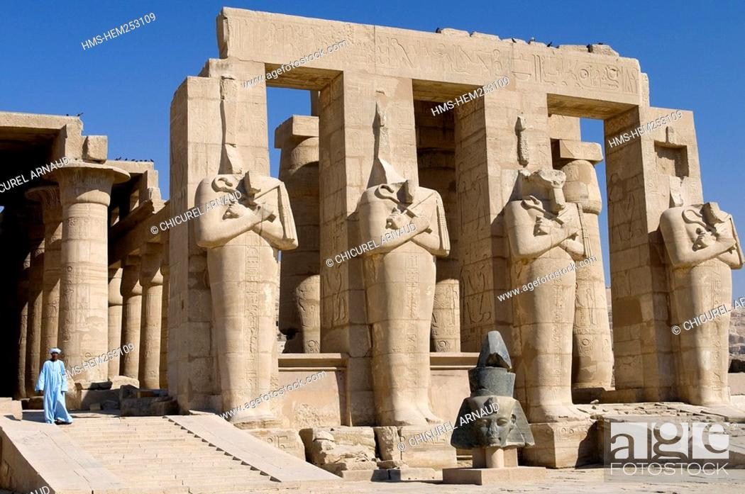 Stock Photo: Egypt, Upper Egypt, Nile Valley, surroundings of Luxor, Thebes Necropolis listed as World Heritage by UNESCO, Western area, Ramesseum.