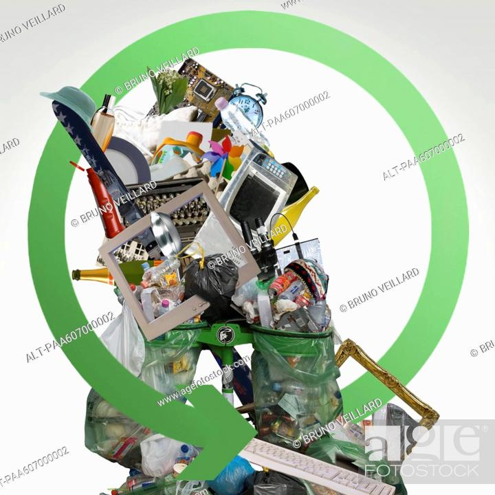Stock Photo: Garbage and e-waste.