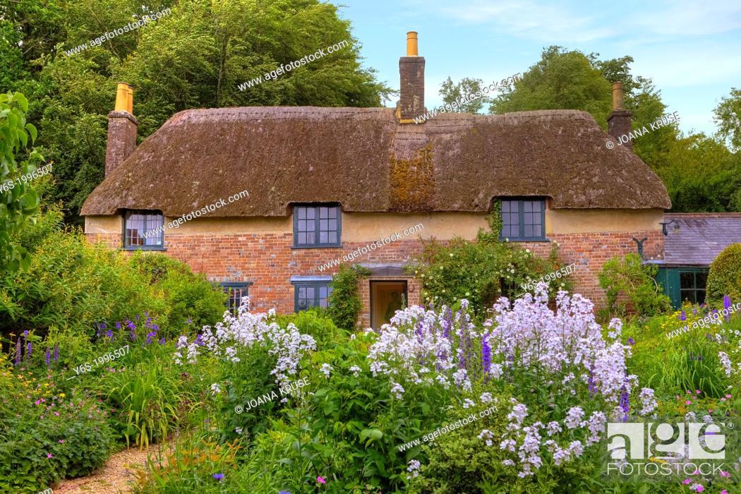 Stock Photo: Thomas Hardy's Cottage, Dorset, United Kingdom.