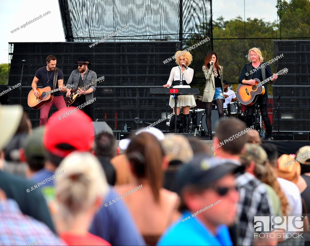 Stock Photo: 1st annual Kiss 99.9 Chilli Cookoff at CB Smith Park Featuring: Jimi Westbrook, Kimberly Roads Schlapman, Karen Fairchil.