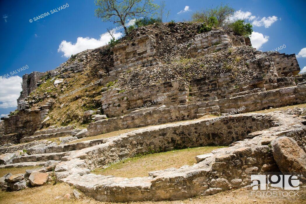 Stock Photo: Aké Archaeological Site, Yucatan, Mexico.