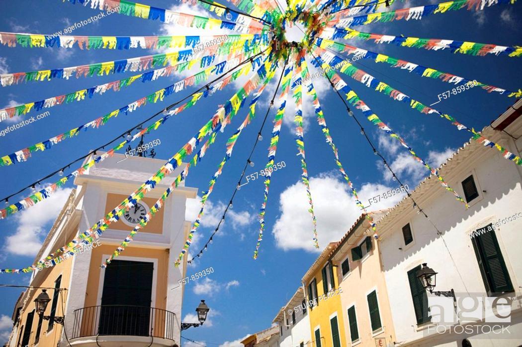 Stock Photo: Mercadal, Menorca, Balearic Islands, Spain.