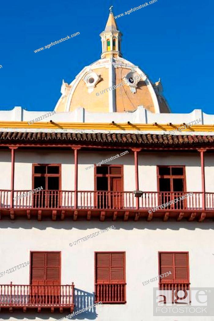 Stock Photo: Classical architecture in Cartagena.