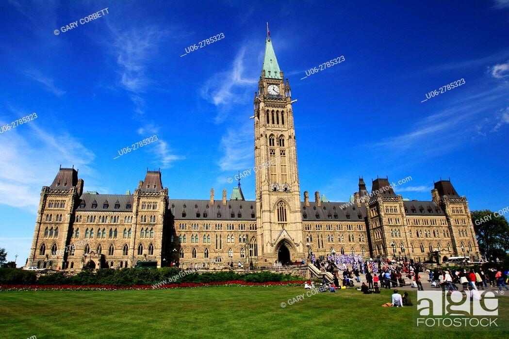 Stock Photo: Parliament building in Ottawa, Ontario, Canada.
