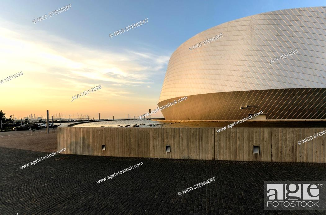 Stock Photo: The Blue Planet, Northern Europe's largest aquarium by architect Kim Nielsen Herford, Kastrup, Copenhagen, Denmark.