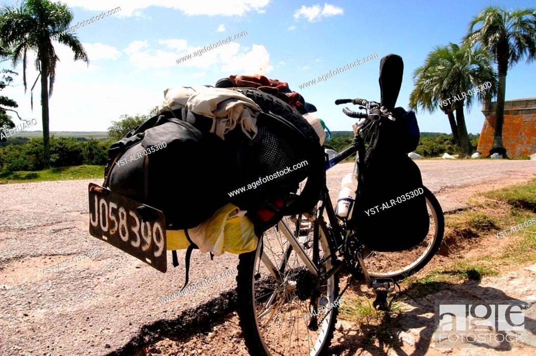 Stock Photo: Bicycle, Montevideo, Uruguay.