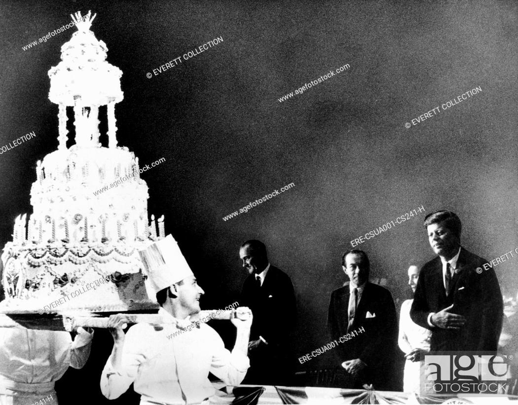 Huge Birthday Cake For President John Kennedy The Celebrity Studded