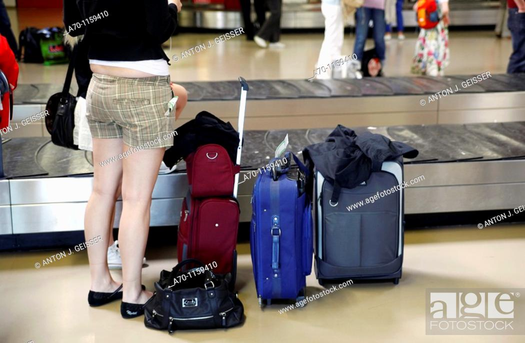Stock Photo: Luggage airport , germany.