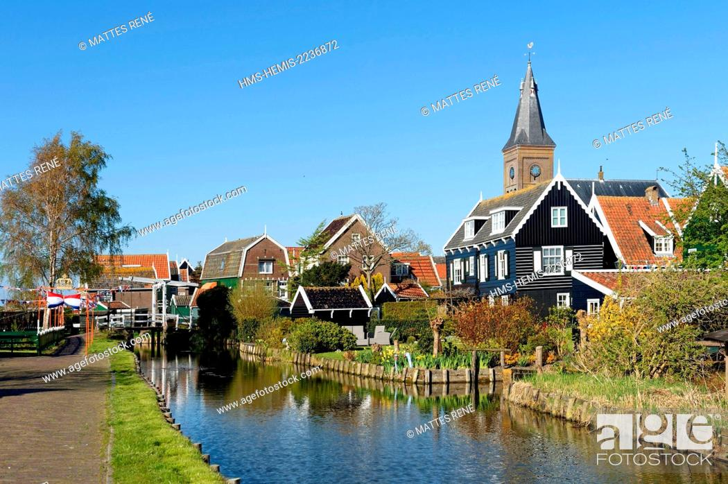 Stock Photo: Netherlands, Northern Holland, Marken village.