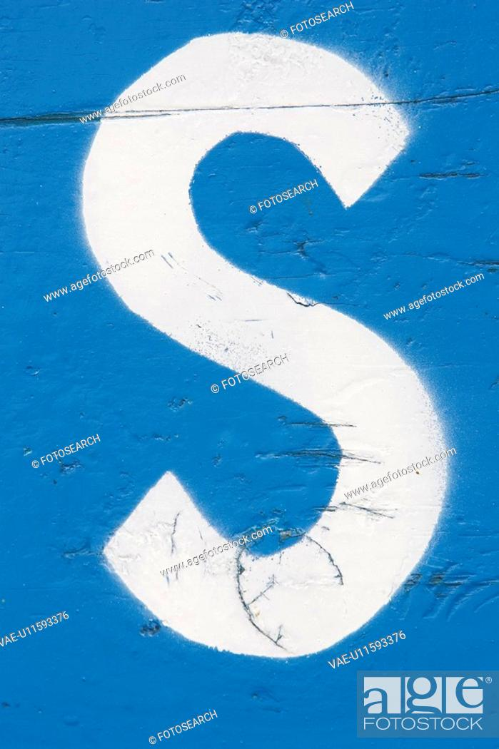 Stock Photo: Artistic, Day, Close-Up, Blue, Alphabet.