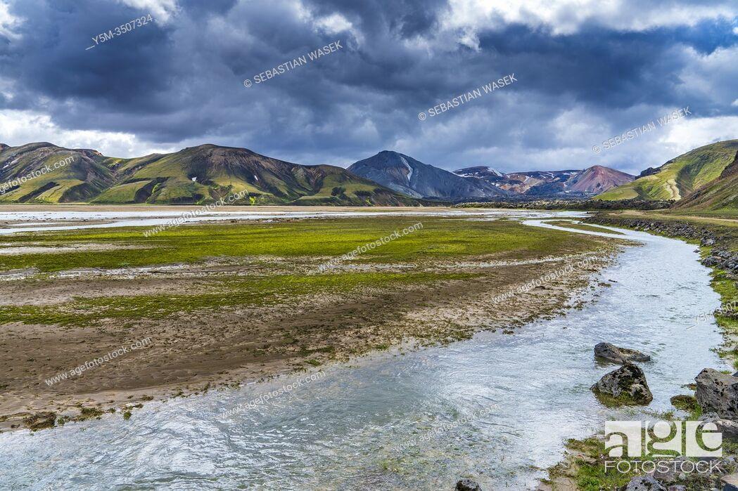 Imagen: Landmannalaugar, Fjallabak Nature Reserve, Highlands of Iceland, Southern Region, Iceland.