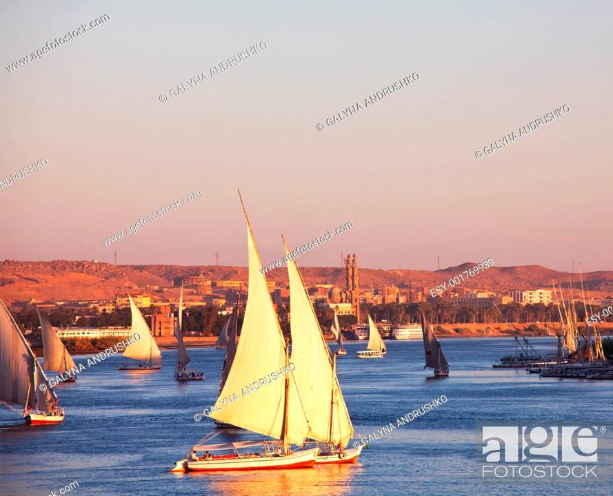 Stock Photo: Boats on the Nile.