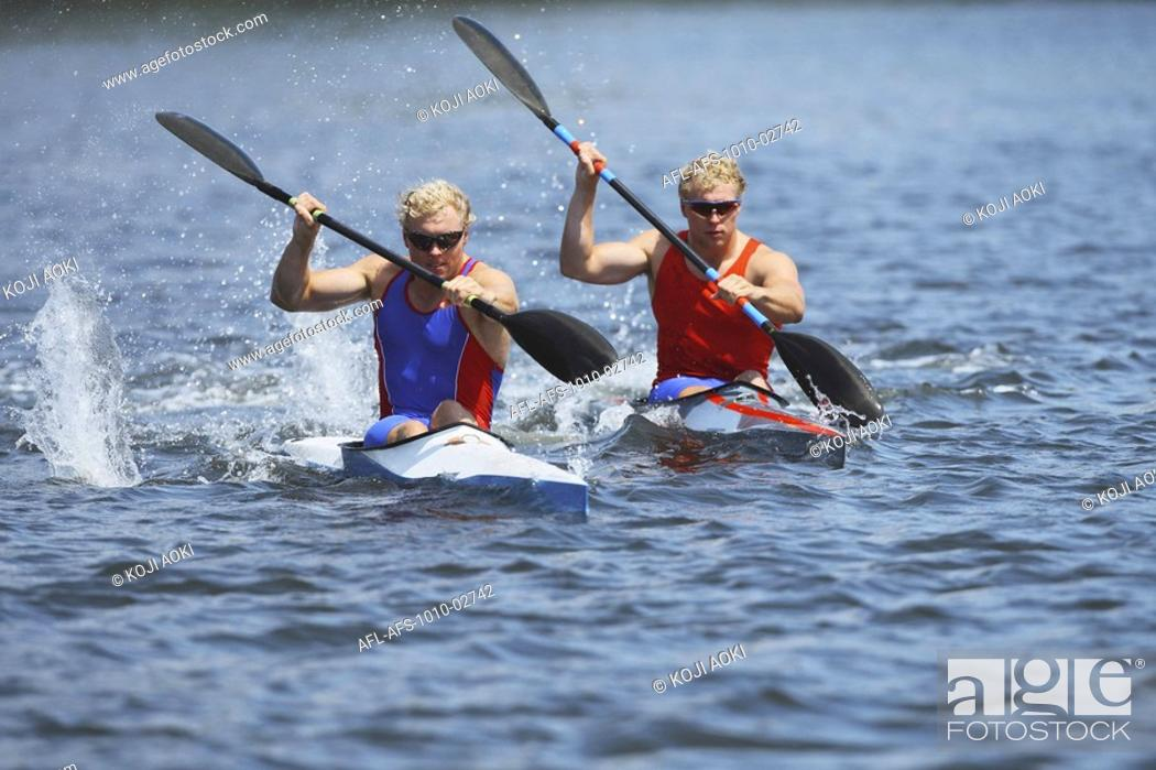 Stock Photo: Flatwater Racing.