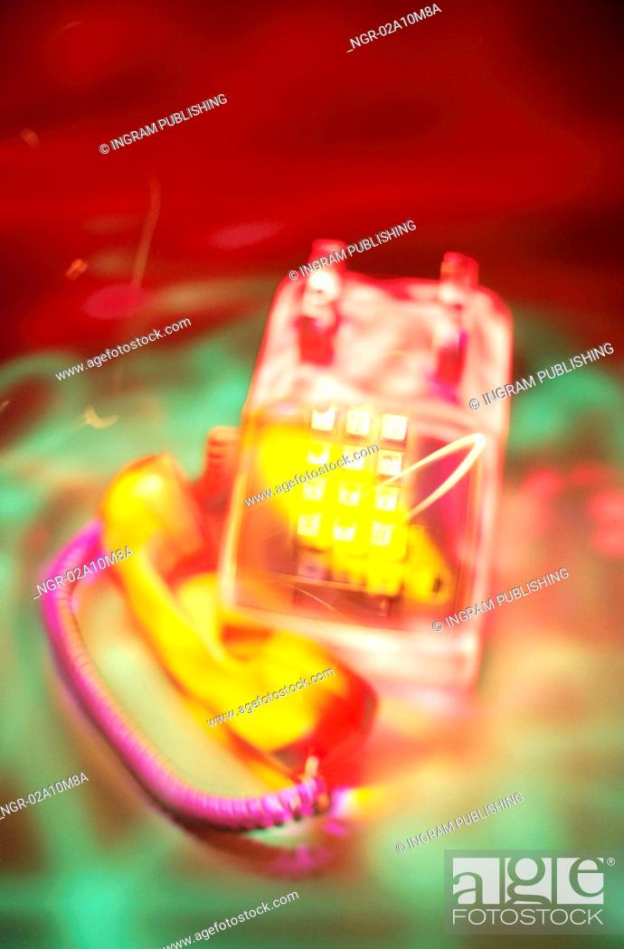 Stock Photo: Telephone Off the Hook.