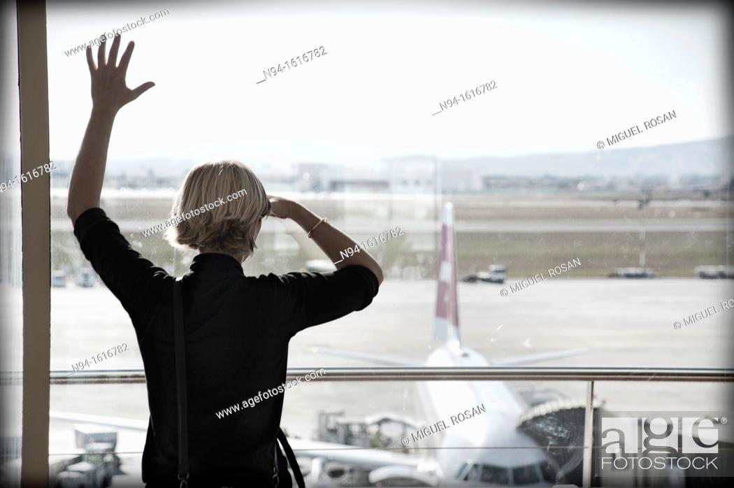Stock Photo: Manises Airport, Valencia, Spain.